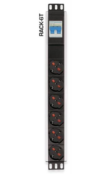 Immagine di Multiprese 6 Prese con Interruttore Magneto termico