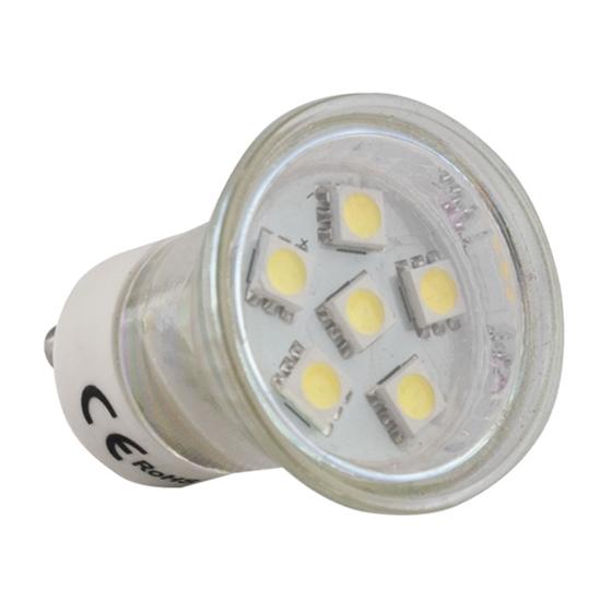 Immagine di LED bulb MR11 GU10 6 LED SMD 5050 230 V cold white