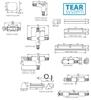 """Immagine di TEAR PR-T-RRL-WH Elementi del sistema a binario TEAR (conettore """"T"""")"""