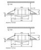 Immagine di Faretto incasso da soffitto per interno rotondo regolabile - RADAN CT-DTO50