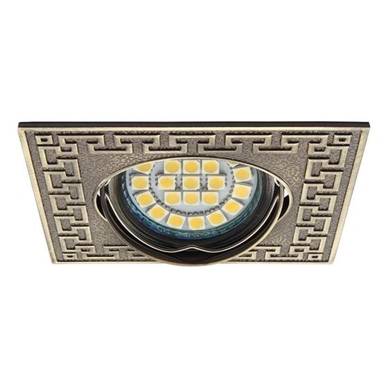 Immagine di Faretto incasso da soffitto orientabile quadrato - PELIA CT-DTL50-AB