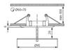 Picture of Faretto incasso da soffitto IN RIELIEVO - DINO CTX-DS02G/B-C