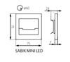 Immagine di SABIK MINI LED  - 0,8W - SEGNAPASSO DA INTERNO - 12DC