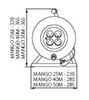 Picture of MANGO KF-FBG-20A 25M Prolunga a bobina con messa a terra