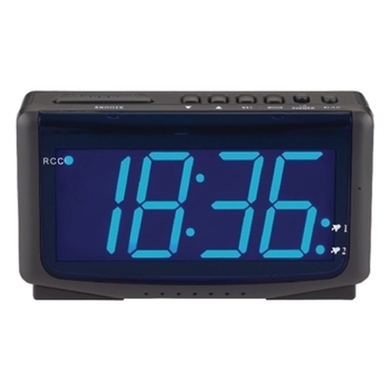 Picture of LED alarm clock radio-controlled