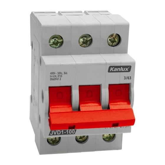 Picture of JVD1-100 3/63A Contattore di isolamento