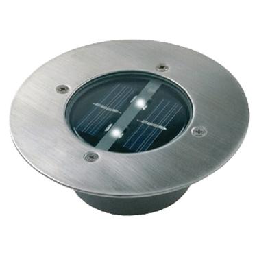 Immagine di Riflettore LED circolare a energia solare da incasso a suolo