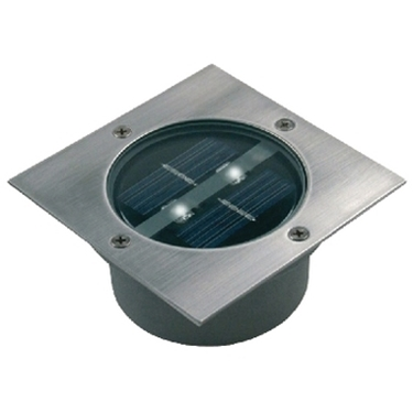 Immagine di Riflettore LED quadrato a energia solare da incasso a suolo