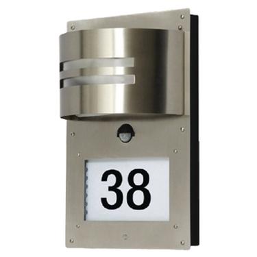 Immagine di Lampada con doppio sensore per esterni con numero civico