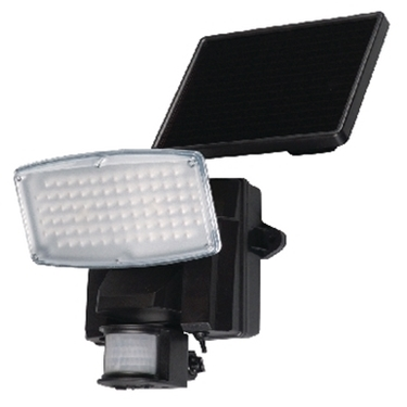 Immagine di Lampada a led da parete con pannello solare e sensore di movimento