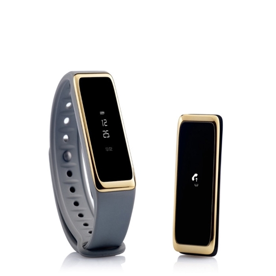 Immagine di OROLOGIO RETTANGOLARE TOUCH SCREEN BLUETOOTH 4.0 - MyKronoz Activity Tracker ZeFit2 grey gold