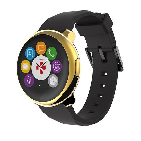 Immagine di Orologio per Smartphone/Tablet con bluetooth - MyKronoz Smartwatch ZeRound yellow/gold/black