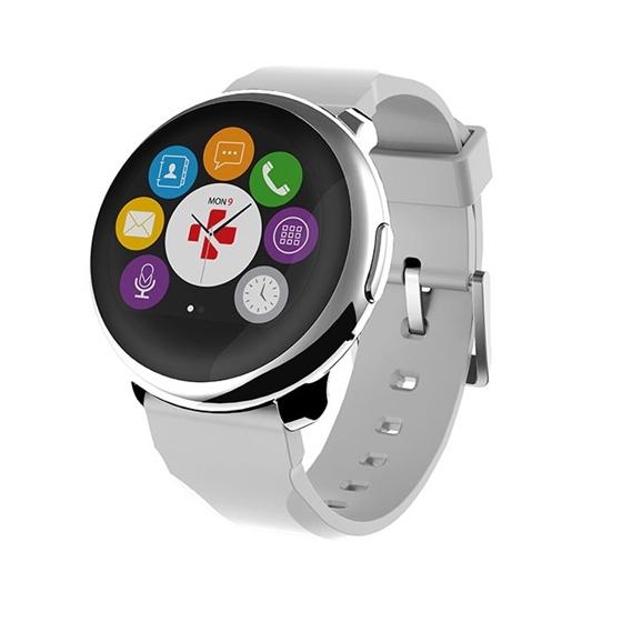 Immagine di Orologio per Smartphone/Tablet con bluetooth - MyKronoz Smartwatch ZeRound silver white