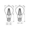Immagine di DIXI FILLED 8W E27 - WW - lampadina led a filamento TYPO A