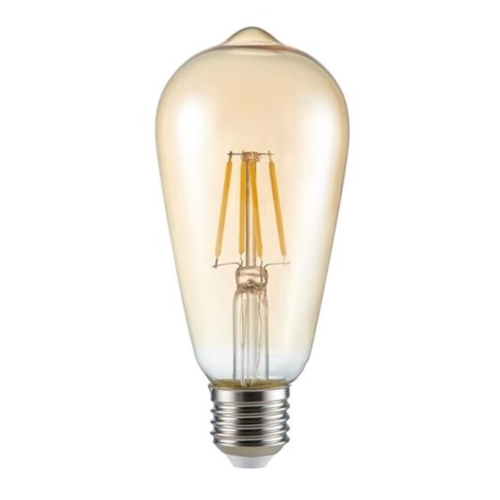 Picture of ST64 FILLED 6W E27 - WW - LAMPADINA LED A FILAMENTO TYPO A