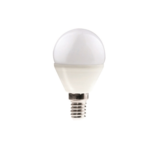 Picture of BILO 6,5W T SMD E14 - LAMPADINA MINI GLOBO LED CON VETRO BIANCO