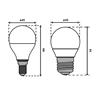 Immagine di IQ LED G45 E14 - 5,5W/7,5W  - LAMPADINA LED CON VETRO BIANCO