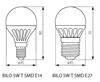 Picture of BILO 5W T SMD E27 - WW - LAMPADINA MINI GLOBO LED CON VETRO BIANCO