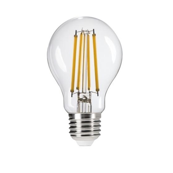 Picture of XLED A60 10W  - E27 - LAMPADA A FILAMENTO A LED CON VETRO TRASPARENTE