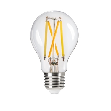 Picture of XLED A60 7W STEP CCT  - E27 - LAMPADA A FILAMENTO A LED CON VETRO TRASPARENTE - WW/NW/CW