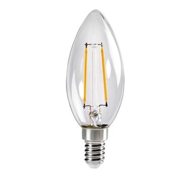 Immagine di XLED C35 E14 2,5W WW - LAMPADA A FILAMENTO A LED CON VETRO TRASPARENTE