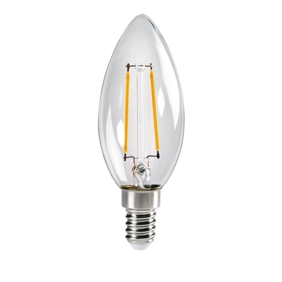 Immagine di XLED C35 E14 4,5W - LAMPADA A FILAMENTO A LED CON VETRO TRASPARENTE