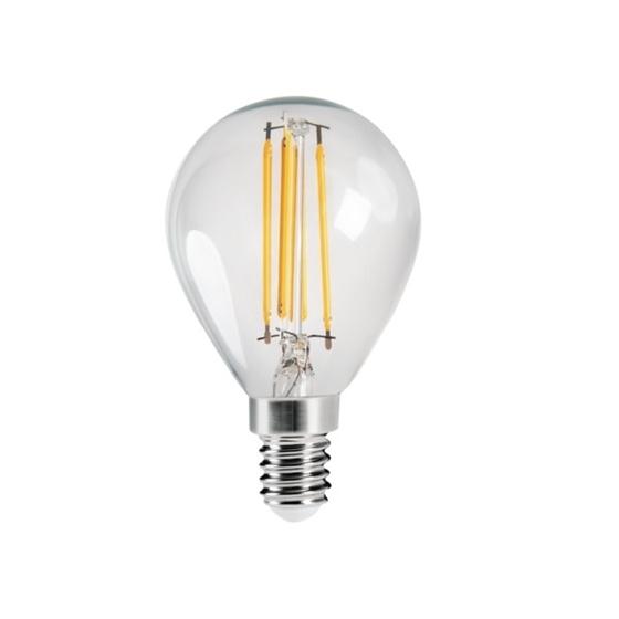 Immagine di XLED G45 - E14 - 4,5W - WW - LAMPADA A FILAMENTO A LED CON VETRO TRASPARENTE