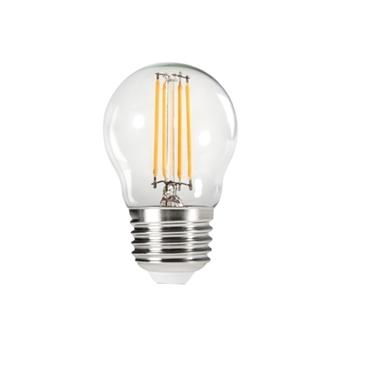 Immagine di XLED G45 - E27 - 4,5W - WW - LAMPADA A FILAMENTO A LED CON VETRO TRASPARENTE