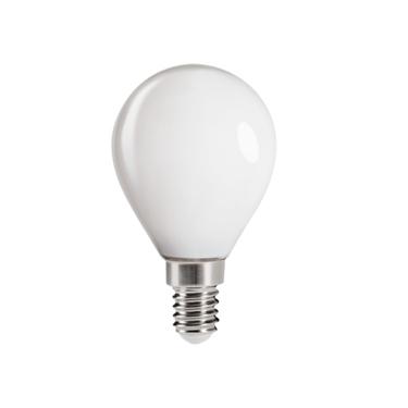 Immagine di XLED G45 - E14 - 6W - M - LAMPADA A FILAMENTO A LED CON VETRO BIANCO