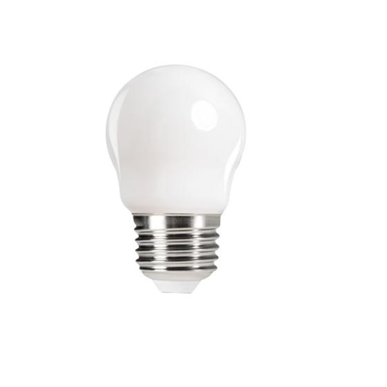 Picture of XLED G45 - E27 - 6W - M - LAMPADA A FILAMENTO A LED CON VETRO BIANCO