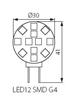 Picture of LED12 SMD - G4 - WW - 1,5W - PIASTRINA LED SMD PER  ILLUMINAZIONE LED