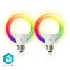 Immagine di LAMPADINE LED SMART WI-FI- E27 - Pacco da 2 - RGB-WW-CW - 6W - VETRO BIANCO