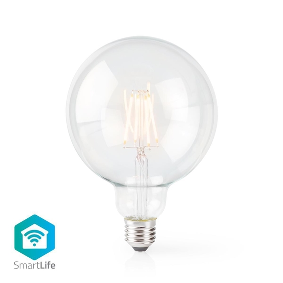 Immagine di LAMPADINA LED SMART WI-FI CON FILAMENTO - WW - E27- 125 MM| 5 W | 500 lm - TRASPARENTE