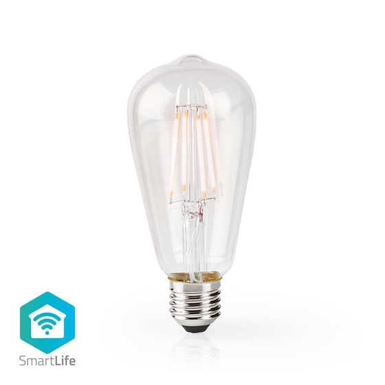Picture of LAMPADINA LED SMART WI-FI CON FILAMENTO - WW - E27- ST64 | 5 W | 500 lm - TRASPARENTE
