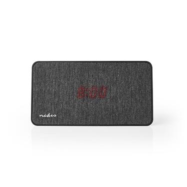 Picture of Altoparlante Bluetooth® in Tessuto | 15 W | Fino a 4 Ore di Riproduzione | Orologio Digitale | Antracite / Nero