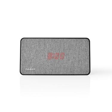 Picture of Altoparlante Bluetooth® in Tessuto | 15 W | Fino a 4 Ore di Riproduzione | Orologio Digitale | NERO/GRIGIO