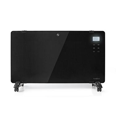 Picture of Termoconvettore a Pannello in Vetro | Termostato | Display LCD | 2 Impostazioni di Calore | Supporto a Parete / Pavimento | 2000 W | NERO