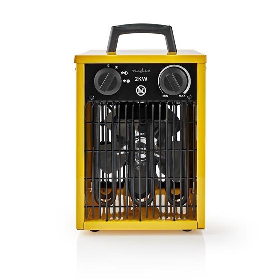 Picture of Termoventilatore con Design Industriale | Termostato | 3 Impostazioni | 2000 W | Giallo
