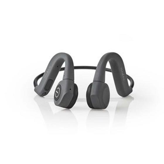 Immagine di Cuffie a Conduzione Ossea | 6,5 Ore di Riproduzione | Connessione Bluetooth | 8 GB di Memoria Interna | Grigio