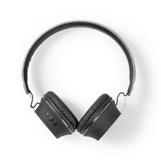 Immagine di Cuffie Bluetooth® in Tessuto | Cuffie a Padiglione Aperto | 18 Ore di Riproduzione | Grigio / Nero