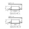 Picture of QULES AC O-B - FARETTO A INCASSO PER BAGNO E DOCCE - IP44