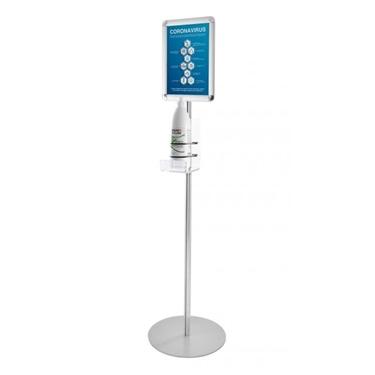 Picture of Colonnina Porta dispenser - con ripiano in plexiglass e cornice, h 140cm