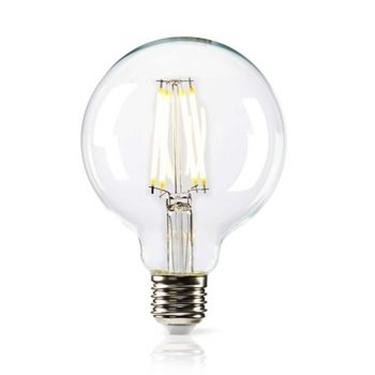 Immagine di Lampada LED retrò regolabile a filamento E27 | G95 | 8,3 W | 806 lm - VETRO TRASPARENTE - WW
