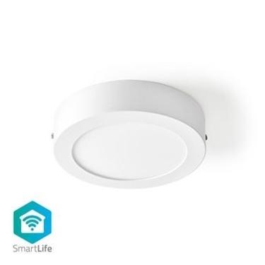 Immagine di Lampada da Soffitto Smart Wi-Fi | Forma Rotonda | Diametro 17 cm | Luce Bianca Calda e Fredda | 800 lm | 12 W | Design Sottile | Alluminio