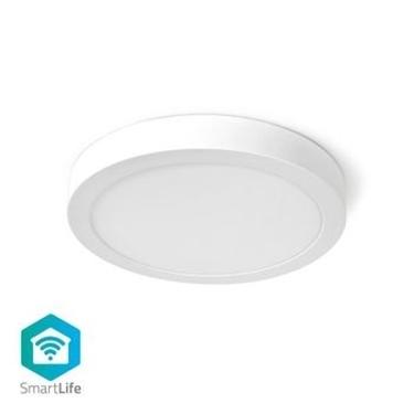 Immagine di Lampada da Soffitto Smart Wi-Fi | Forma Rotonda | Diametro 30 cm | Luce Bianca Calda e Fredda | 1200 lm | 18 W | Design Sottile | Alluminio