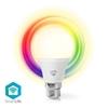 Picture of Lampadina LED smart Wi-Fi | Colore pieno e bianco caldo | B22 - RGB + LUCE CALDA  - VETRO BIANCO