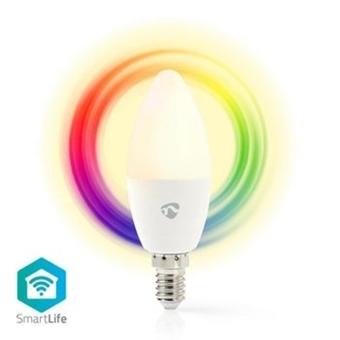Picture of Lampadina LED smart Wi-Fi   Colore pieno e bianco caldo   E14 - RGB + LUCE CALDA - DIMM
