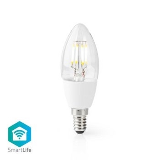 Picture of Lampadina LED Smart Wi-Fi | E14 | C37 | 5 W | 400 lm | Bianco - VETRO TRASPARENTE