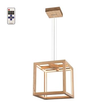 Picture of KAGO LED SOSPENSIONE - quadrata con telecomando   - illuminazione con striscia - 37x37