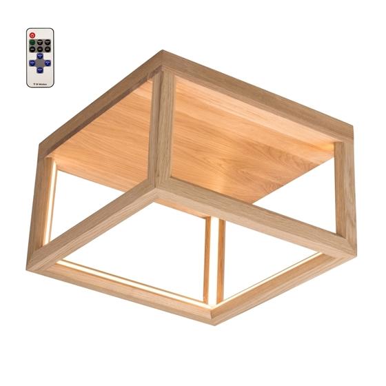 Immagine di KAGO LED A SOFFITTO - quadrato con telecomando  - illuminazione con striscia - 35,5 x 35,5